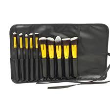 china amazon best seller 10pcs sigma kabuki makeup brushes with leather bag