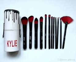 hot kylie makeup brush cosmetic foundation bb cream powder blush makeup tools black red