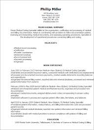 Resume Specialists Professional Medical Coding Specialist Resume Templates To