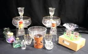 hallmark wine glasses lot of home decor candle holders decorative glass bowls and dishes hallmark fall hallmark wine glasses