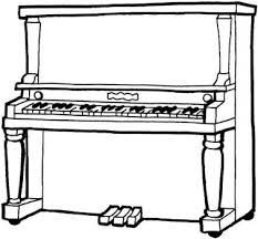 Small Picture Piano clipart coloring page Pencil and in color piano clipart