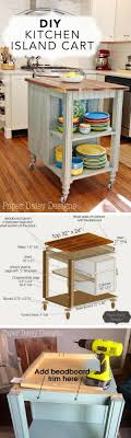 diy kitchen island cart. 25 Easy DIY Kitchen Island Ideas That You Can Build On A Budget - Check Out Diy Cart D