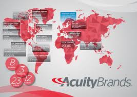 acuity brands global map