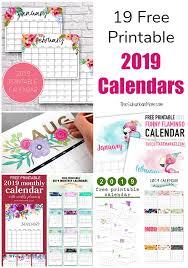 free printable 2019 monthly calendar 19 free printable 2019 calendars the suburban mom