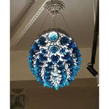 lighting amazing cobalt blue chandelier 21 italian contemporary oval turquoise clear glass flush mount 1024x1024 jpg