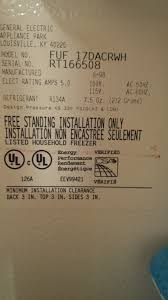 Ge Upright Freezer Manual My Ge Upright Freezer Temp Monitor Alarm Is Buzzing I Dont