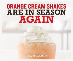orange cream shakes are in season again