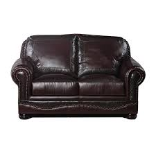 large picture of usa premium leather furniture 6750 20 loveseat cabernet with gator