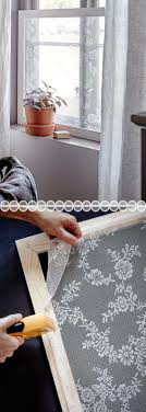 Wonderful Lace Window Sheers stretched and mounted on removable frames for  privacy shades - curtains frosted window lace bathroom window ideas for  renters ...