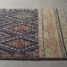 indira faded blue rug