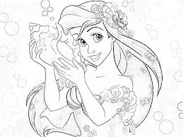 Small Picture Coloring Pages Disney Ariel Suggestions Ariel princess coloring