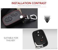 4 ons remote genuine leather key fob cover case for lexus is250 es240 es350 rx270 rx350 rx300 keyless holder replacement auto keys replacement car key