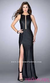 black black vegan leather long prom dress long dresses