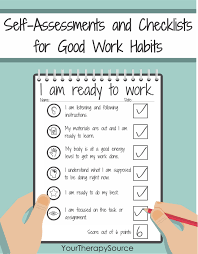 Self Regulation Checklist For Self Monitoring Your Therapy