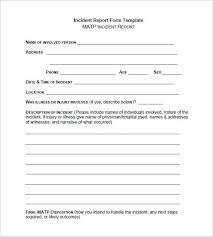 25 Generic Incident Report Template Joca Cover Letter Templates