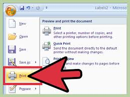 028 Create Labels Using Microsoft Word Step Version Template