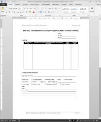 Design Change Note Format Engineering Change Notice Document Change Control Template Eng102 2