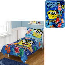 bonus blanket with nickelodeon spongebob 4pc toddler bedding set com
