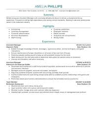 Restaurant Manager Resume Objective Sample Resume Objective For Restaurant Manager Example Nice With