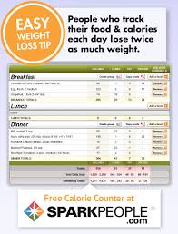 Calorie Chart App Free Calorie Counter Sparkpeople