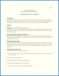 Groundskeeper Resume Objective For Resume Landscaping Groundskeeper Resume Sample 4