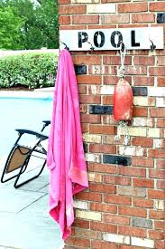 outdoor spa and pool towel rack bronze appealing good pipe holder with of trends popular