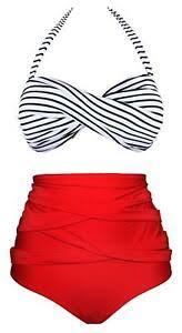 Details About Angerella Women Vintage Polka Dot High Waisted Bathing Suit Bikini