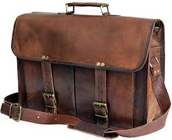 "17"" <b>Leather</b> Messenger <b>Bag Laptop</b> case <b>Office Briefcase</b> Gift <b>for</b> ..."