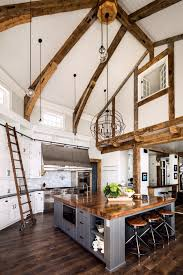 Kitchen With Vaulted Ceilings Stunning Country Kitchen Features A Double Height Vaulted Ceiling