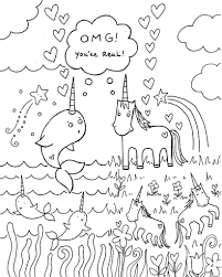 Coloring Pages All Sizes Free Download Narwhal Unicorn Coloring