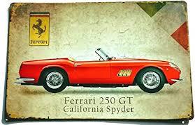 Tin Sign Blechschild 20x30 Cm Ferrari 250 Gt California Spyder Kult Auto Youngtimer Italien Sportwagen Werkstatt Bar Kneipe Amazon De Küche Haushalt