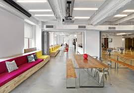 interior design for office space. Polished Concrete Floors Add An Industrial And Low-maintenance Vibe To The  NYC Office Space. Image: Interior Architects Interior Design For Space
