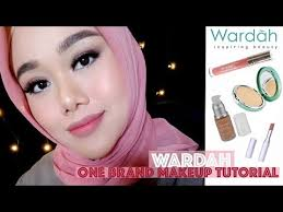 wardah one brand makeup tutorial fatyabiya