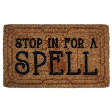 Entryways Stop in for a Spell 18 in. x 30 in. Hand Woven Coconut ...