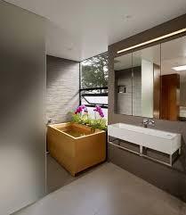 Bathroom  Rustic Bathroom With Round White Under Ground Japanese Square Japanese Soaking Tub