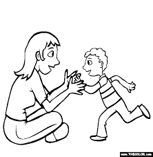 Small Picture Give Mommy a Hug Online Coloring Page
