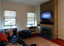 mounting tv on brick fireplace mount brick fireplace hide wires over gas how to and next
