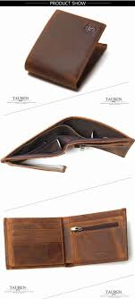 new crazy horse leather men wallets vintage genuine leather wallet for men cowboy top leather thin
