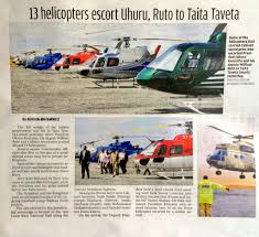 Kenyan Cabinet Secretaries Waste Government Hired Chopper For Each Cabinet Secretary Who