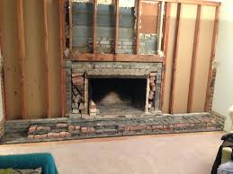brick fireplace demo