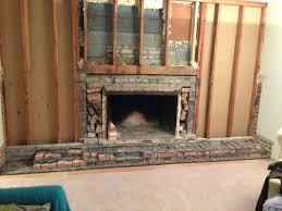 brick fireplace demo