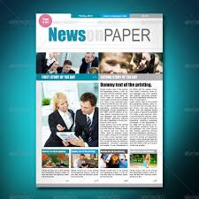 Creative Newspaper Template Free 53 Amazing Newspaper Templates In Pdf Ppt Word Psd