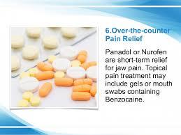 jaw pain relief medicine