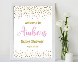 Pink Welcome Sign Etsy