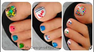 Cute Simple Toe Designs 3 Easy Summer Toenail Designs
