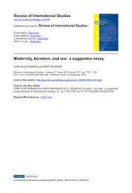 modernity boredom and war a suggestive essay pdf  modernity boredom and war a suggestive essay pdf available