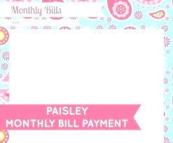 Online Bills Organizer Monthly Bill Organizer Friendlyga