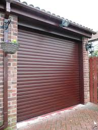 red electric roller shutter garage door inc safety edge full top cover box