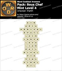 Word Cookies Sous Chef-Mint Level 4 Answers - Game Solver