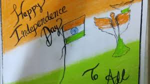 Happy Indipendance Day Drawing Chart Card